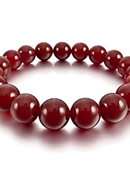 cheap -men,women's 12mm energy bracelet link wrist energy stone simulated agate red buddha mala bead