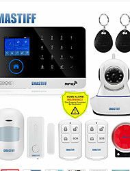 cheap -WAZA 433MHZ Wireless GSM home RFID burglar security LCD touch keyboard Wifi alarm system kits 8 languages