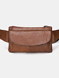 cheap -men genuine leather multi-pocket anti-theft multifunctional crossbody bag chest bag sling bag