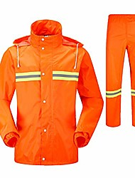 cheap -Women's Men's Unisex Hoodie Jacket Raincoat Reflective Waterproof Windproof Fast Dry Autumn / Fall Spring Clothing Suit for Camping / Hiking Hunting Fishing Orange XL XXL XXXL 4XL / Breathable