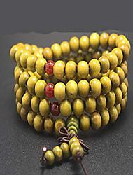 cheap -8mm*108pcs Mala Bracelet Necklace Men's Women's Tibetan Buddhist Buddha Meditation Prayer Bead Prayer Buddha Mala Chinese Knot (Green)