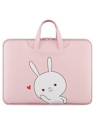 cheap -Unisex Waterproof PU Laptop Bag Zipper Floral Print Character Daily Office & Career Pink
