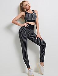 cheap -Activewear Pants Split Joint Women's Training Running Sleeveless Nylon