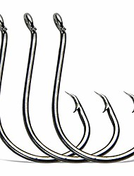 cheap -Circle Hooks Fishing Hooks Tackle - 100pcs 2X Strong Saltwater Fishing Hooks Octopus Circle Hooks Customized Offset Sport Circle Hook for Catfish Bass Size 6/0