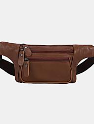 cheap -men genuine leather three-layer waterproof large-capacity multifunctional crossbody bag chest bag sling bag