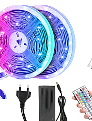 cheap -10m LED Light Strips RGB Tiktok Lights 5050 SMD 600 Leds 10mm Strip Flexible Light Led Tape Waterproof DC 12V 600Leds with 44key IR Remote Controller Kit