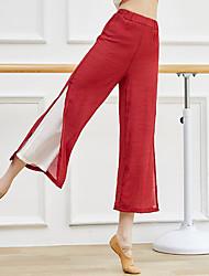 cheap -Activewear Pants Split Ruching Gore Women's Training Performance Sleeveless High Linen / Cotton Blend