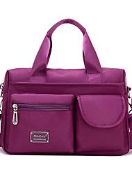 cheap -women nylon multi zipper pockets tote handbags casual shoulder bags waterproof crossbody bags