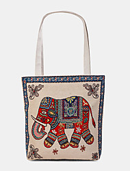 cheap -women bohemian elephant printed large capacity national tote handbag