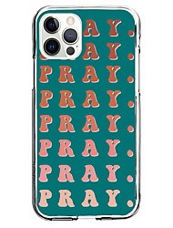 cheap -pray phrase fashion case for apple iphone 12 iphone 11 iphone 12 pro max unique design instagram style case protective case shockproof back cover tpu