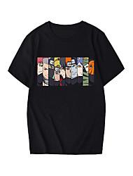 cheap -Inspired by Naruto Akatsuki Uchiha Itachi Cosplay Costume T-shirt Microfiber Graphic Prints Printing T-shirt For Women's / Men's