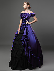 cheap -Maria Antonietta Victorian 18th Century Vacation Dress Dress Outfits Prom Dress Women's Costume Purple Vintage Cosplay Party Prom Short Sleeve Ankle Length Ball Gown Plus Size Customized