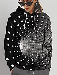 cheap -Women's Pullover Hoodie Sweatshirt 3D Print Daily Sports 3D Print 3D Print Casual Hoodies Sweatshirts  Black Blue Purple