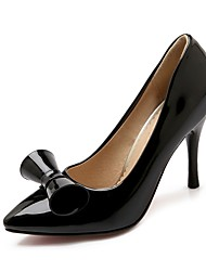 cheap -Women's Wedding Shoes Stiletto Heel Pointed Toe Wedding Pumps Wedding Daily PU Synthetics Black Red Pink