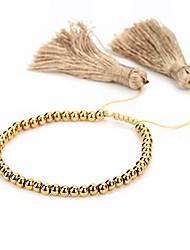 cheap -h&z beaded crystal bracelets 4mm facted crystal tassel friendship bangle strand bracelets for women (star-black)