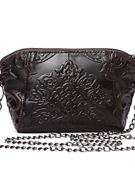 cheap -genuine leather floral embossed shell bags vintage shoulder bags coffee crossbody bags