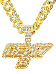 cheap -Men's Necklace Cuban Link Trendy Alloy Gold 45 cm Necklace Jewelry 1pc For Street
