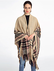 cheap -Sleeveless Coats / Jackets / Shawls Imitation Cashmere Party / Evening / Office / Career Shawl & Wrap / Women's Wrap With Tassel / Stripe