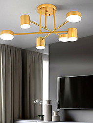 cheap -6 Heads 70cm LED Chandelier Nordic Gold Black Pendant Light Ceiling Light Living Room Dining Room Bedroom Metal Painted Finishes 110-120V 220-240V