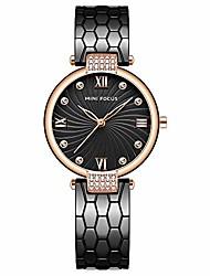 cheap -Mini Focus Women's Fashion Japan Quartz Movement Watch Luxury Wristwatch for Lady Woman (Black)