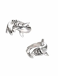 cheap -Vintage Adjustable Alloy Shark Open Rings Unisex Party Jewelry Gift