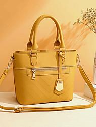 cheap -women solid multi-pocket commuter satchel crossbody bag shoulder bag handbag