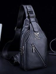cheap -bullcaptain men genuine leather large capacity shoulder bag crossbody bag for business