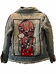 cheap -little big girls jean jacket,toddler denim jacket fashion outwear cowboy overcoat 6-7years