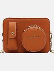 cheap -women chains multi-pocket camera solid crossbody bag shoulder bag
