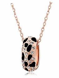 cheap -Black Panther Pendant Necklace for Women - Leopard Animal Print Necklace - 18K Rose Gold - (Rose Gold Necklace)