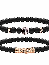 cheap -lava rock beads healing reiki yoga bracelet for women & men for anxiety relief adjustable bracelet to fit any wrist