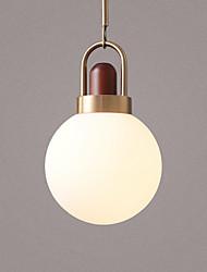 cheap -20 cm Single Design Pendant Light Metal Glass Globe Electroplated Nordic Style 110-120V 220-240V