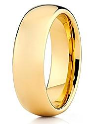 cheap -7mm tungsten carbide wedding band 18k yellow gold shiny polished men & women comfort fit ring