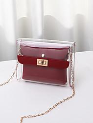 cheap -pvc 2 pieces clear handbag crossbody bag