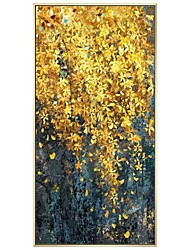 cheap -100% Hand-Painted Contemporary Art Oil Painting On Canvas Modern Paintings Home Interior Decor Abstract Gold Flower Art Painting Large Canvas Art(Rolled Canvas without Frame)