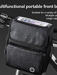 cheap -INBIKE 0.005 L Bike Handlebar Bag Shoulder Messenger Bag Cycling Bike Bag PU Leather 210D Nylon Bicycle Bag Cycle Bag Similar Size Phones Null