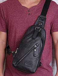 cheap -men genuine leather chest bag shoulder bag crossbody bag