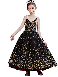 cheap -Princess Ankle Length Wedding / Event / Party Flower Girl Dresses - Lace / Tulle Sleeveless Spaghetti Strap with Lace / Tier / Pattern / Print