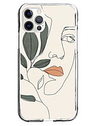 cheap -Person Patterned Phone Case For Apple iPhone 13 12 Pro Max 11 X XR XS Max iPhone 6s Plus / 6 Plus iPhone 6s / 6 Unique Design Protective Case Shockproof Pattern Back Cover TPU