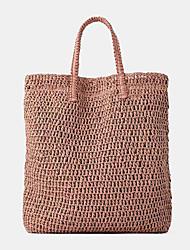 cheap -women travel summer beach large capacity straw handbag tote bag