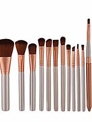 cheap -Makeup brushes Makeup Brush Set Tools Make-up Toiletry Kit Nylon Cosmetic Brush Eye Brush 12pcs (color : 12-piece)