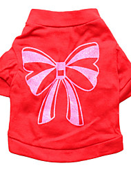 cheap -Cat Dog Shirt / T-Shirt Dog Clothes Puppy Clothes Dog Outfits Red Rose Costume for Girl and Boy Dog Cotton XS S M L