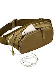 cheap -men women tactical mobile music pockets waterproof waist bag capacity running hiking shoulder bag