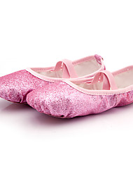 cheap -Women's Ballet Shoes Flat Flat Heel Pink Elastic Band Children's