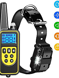 cheap -Dog Training Collar Dog Shock Collar with Remote 2500FT Shock Collar for Dogs IPX7 Waterproof Rechargeable w/Beep 99 Levels Vibrate Shock Modes Shock Collar for Small Dogs Medium Large Dogs