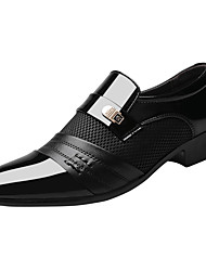 cheap -Men's Loafers & Slip-Ons Business Casual Daily Office & Career Walking Shoes PU Breathable Non-slipping Shock Absorbing Black Brown Fall Spring