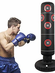 cheap -Inflatable Punching Bags Free Standing Kick Boxing Target Stand Heavy Boxing Bag Fitness Decompression Training at Home or The Gym for Adult and Children (Target)