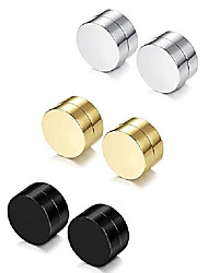 cheap -Sailimue Stainless Steel Magnetic Earrings for Men Women No Piercing Clip On Stud Earrings,6-12mm