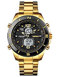 cheap -SKMEI Men's Sport Watch Analog - Digital Digital Sporty Outdoor Calendar / date / day Chronograph LED Light / One Year / Stainless Steel
