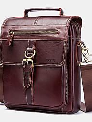 cheap -men genuine leather handbag shoulder bag crossbody bag business bag